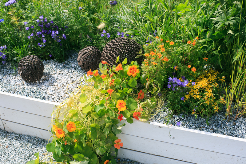 The Cheapest Way To Make A Shingle Garden With A Border