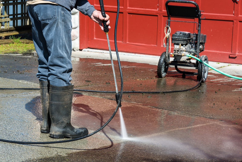 how to fix standing water on patio