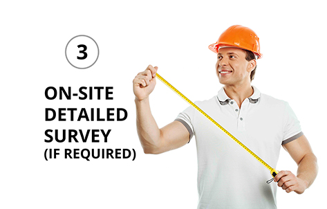 on site detailed survey
