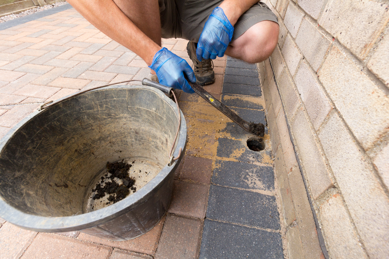 putting drainage in an existing patio