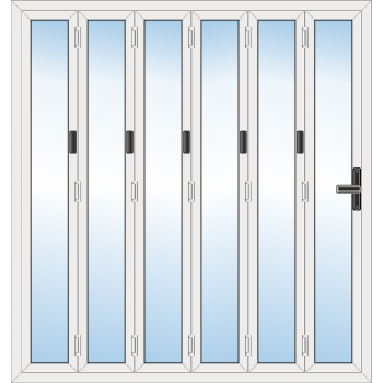 6 Leaf Bi-Fold Door