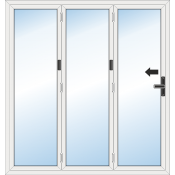 BiFold Door: 3 Leaf - Folding to left