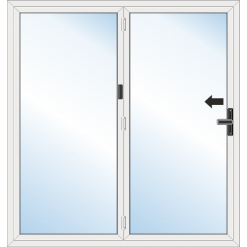 BiFold Door: 2 Leaf - Folding to left