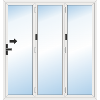 BiFold Door: 3 Leaf - Folding to right