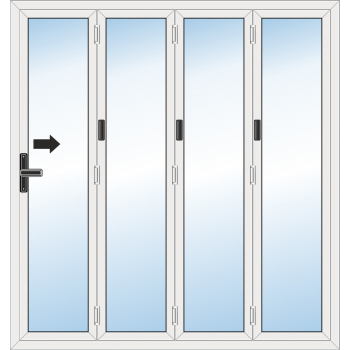 Bi Fold Door: 4 Leaf - Folding to right