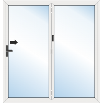BiFold Door: 2 Leaf - Folding to right