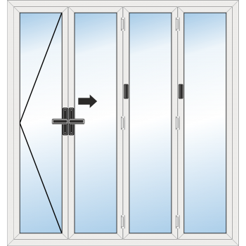 BiFold Door: 4 Leaf - Opening left folding to right