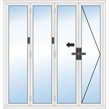 BiFold Door: 4 Leaf - Opening right folding to left