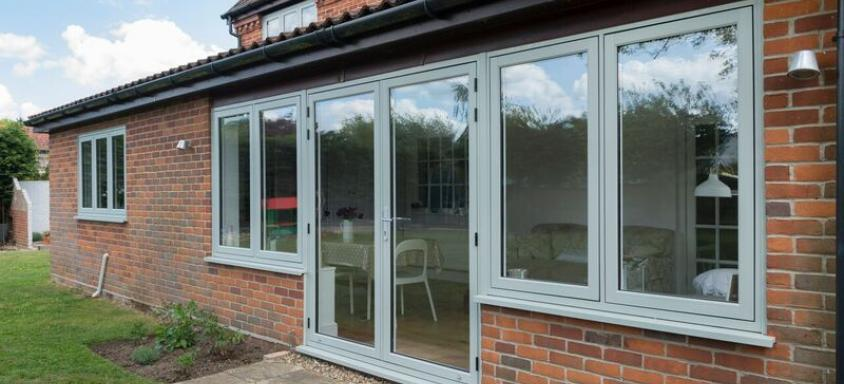 R7 French Door Grey and Side Casement Windows