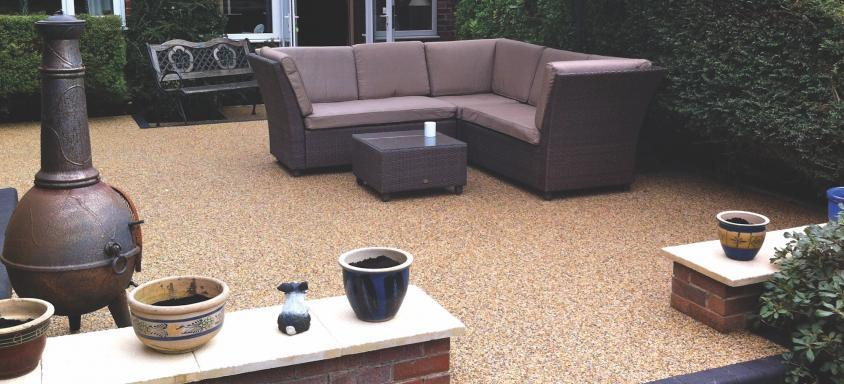 resin bound surfacing in outdoor garden area