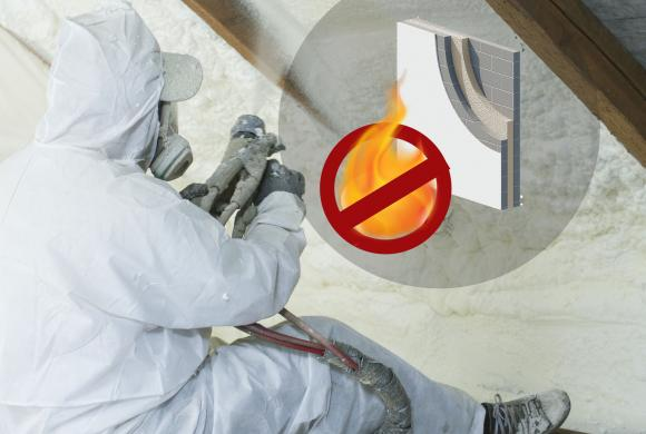 Spray Foam Insulation (Open Cell Fire Retardant).