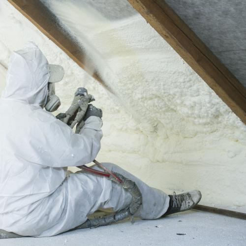 Attics Lofts Spray Foam Insulation Icynene