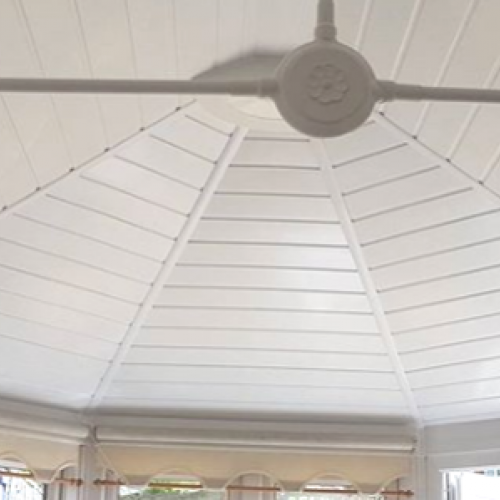 Conservatory roof spray foam insulation
