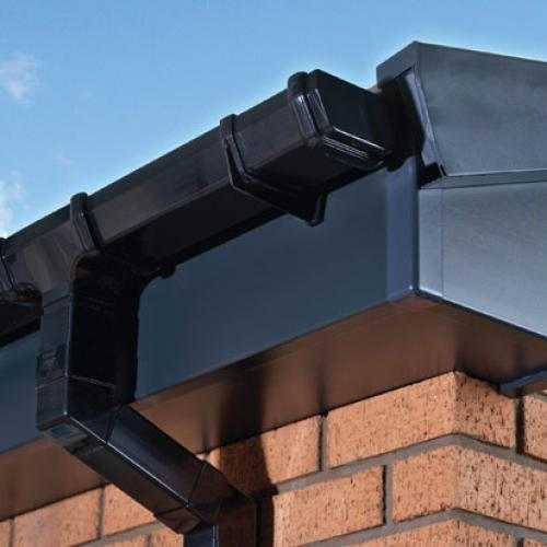 Fascia Soffit Guttering product installation dark grey