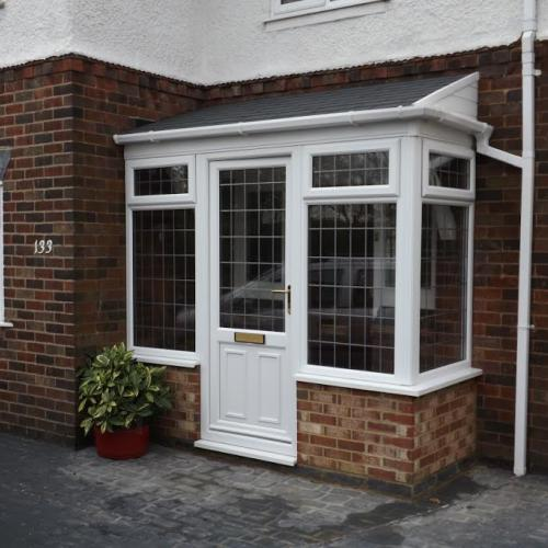 LEAN TO PORCH UK UPVC