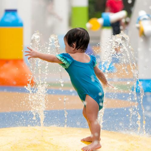 Resin Bound Rubber Playground Flooring wetpour