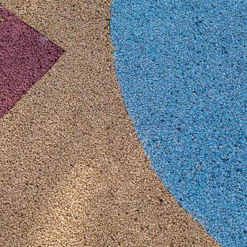 Resin Rubber Playground Flooring Wetpour