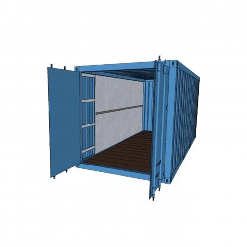 SHIPPING CONTAINER SPRAY FOAM INSULATION