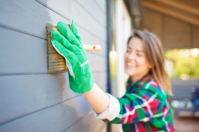 DIY exterior house painting
