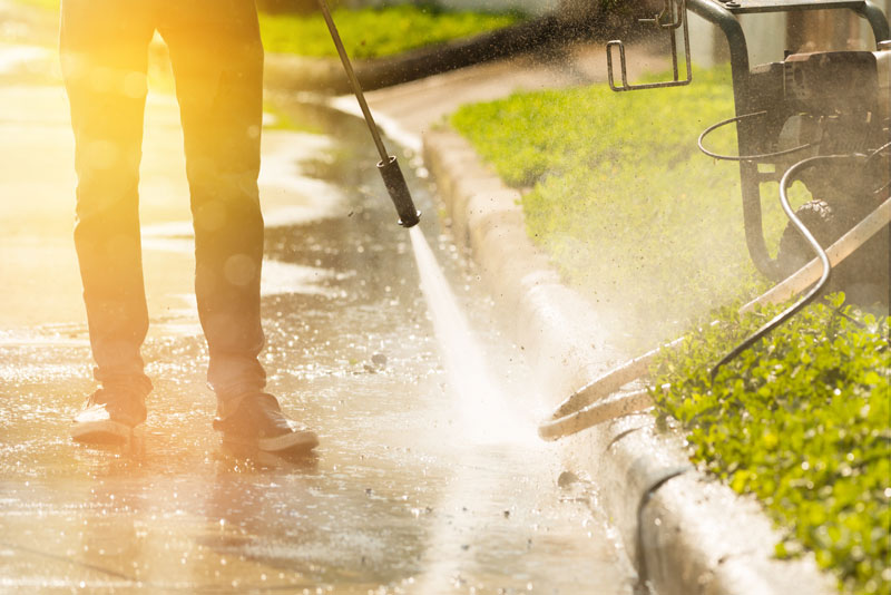 how to fix standing water in driveway