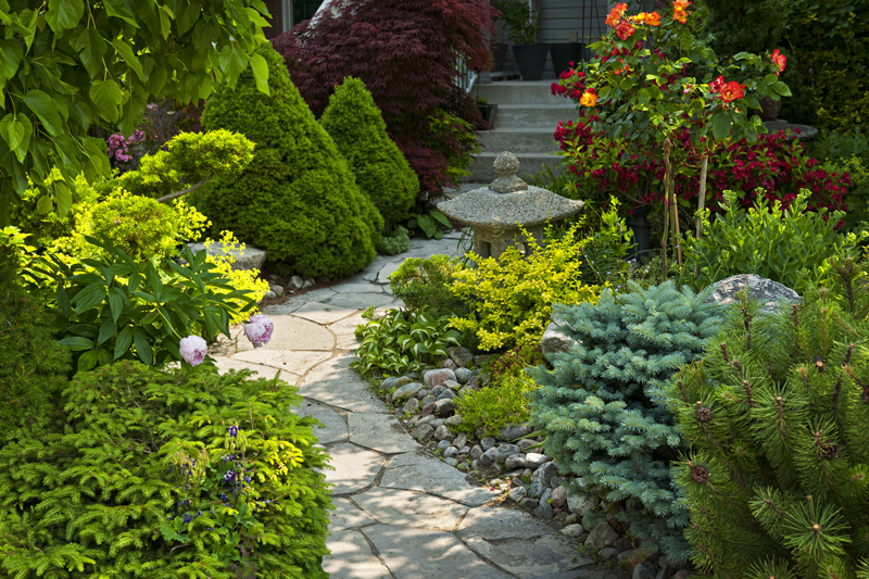 turn my flagstones into a focal feature